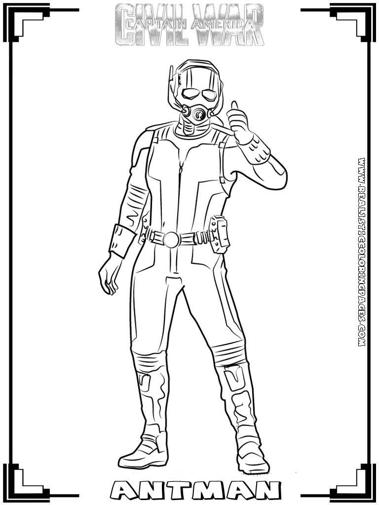 Captain America:Civil War Printable Coloring Pages ...