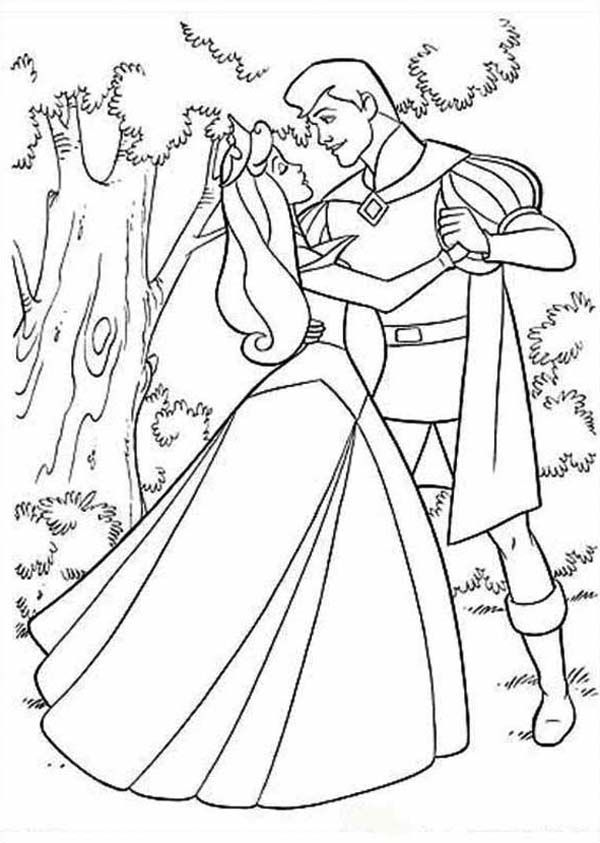 prince and princess coloring pages - photo#21