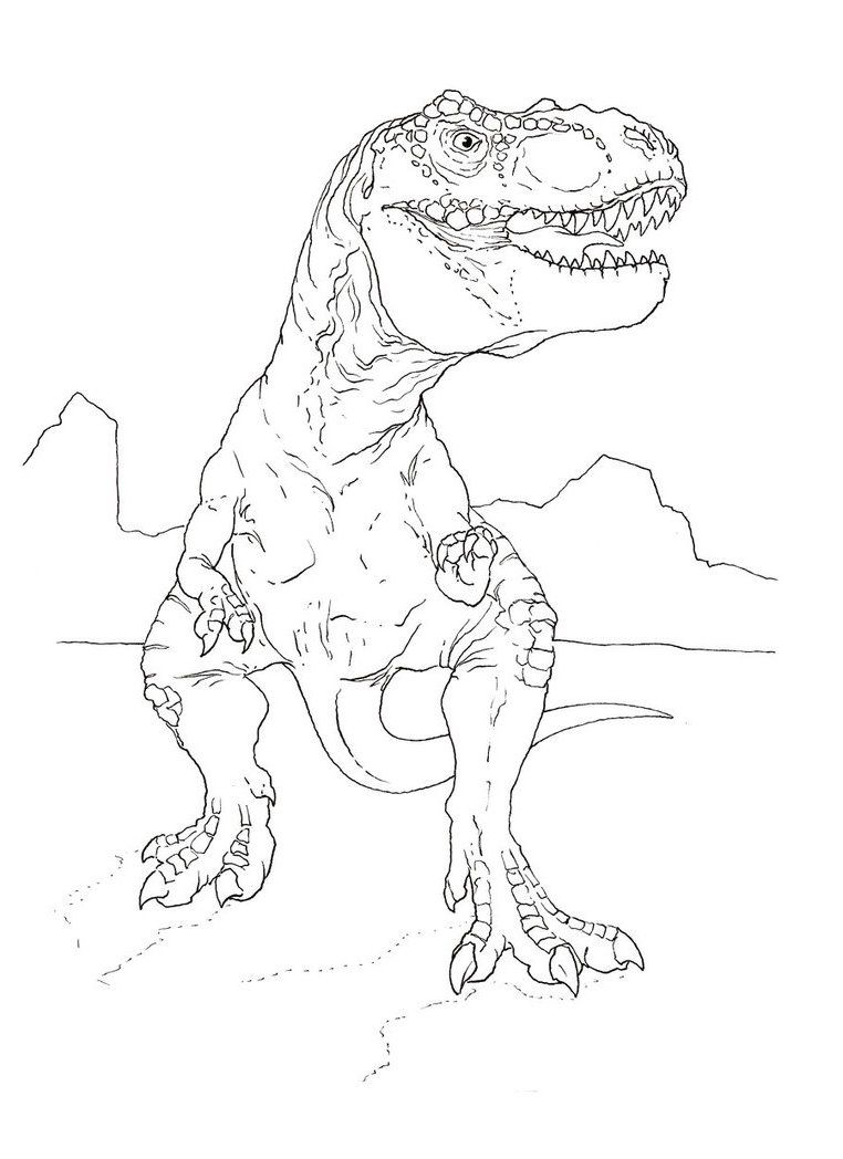 11 pics of jurassic park tyrannosaurus rex coloring pages