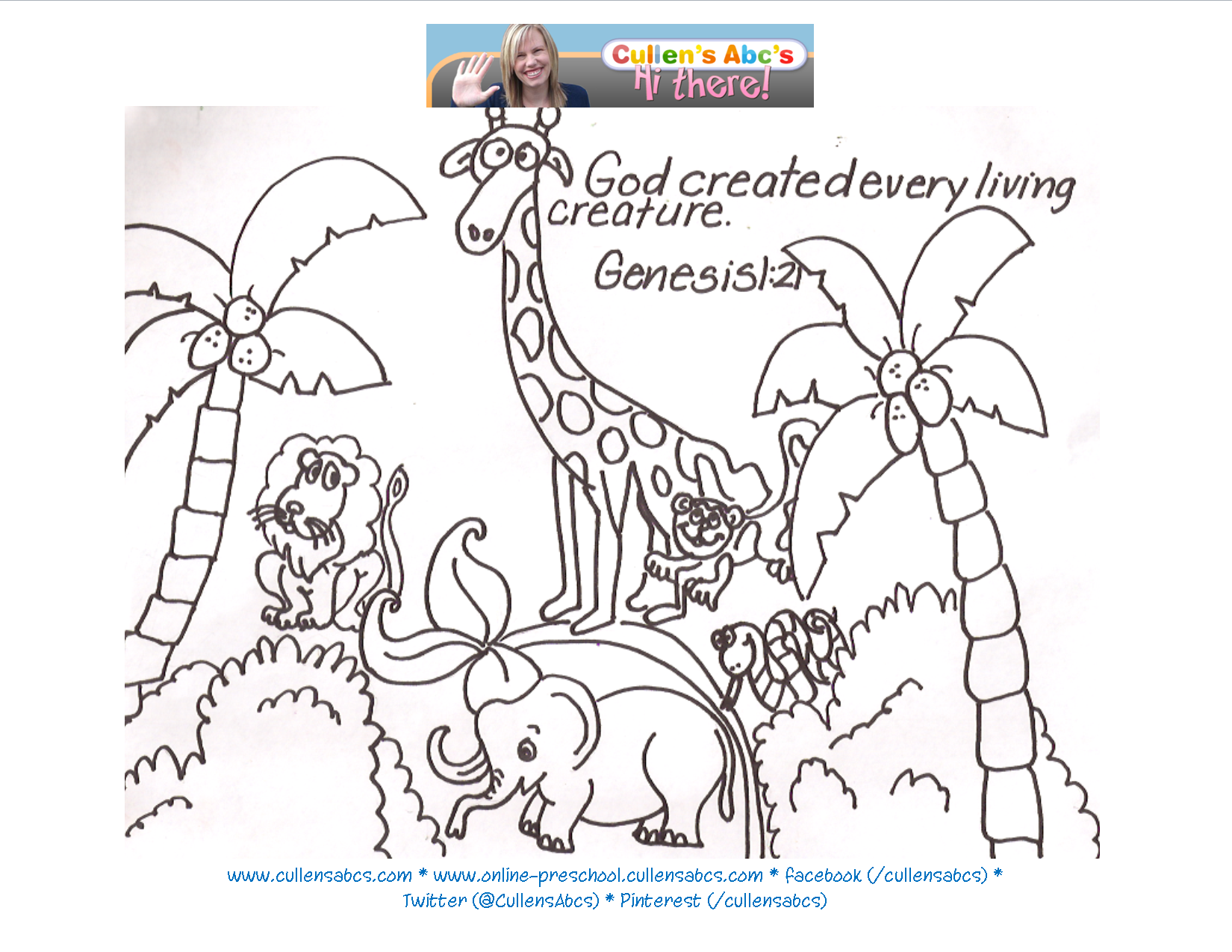 It is a picture of Stupendous God's Creation Coloring Pages