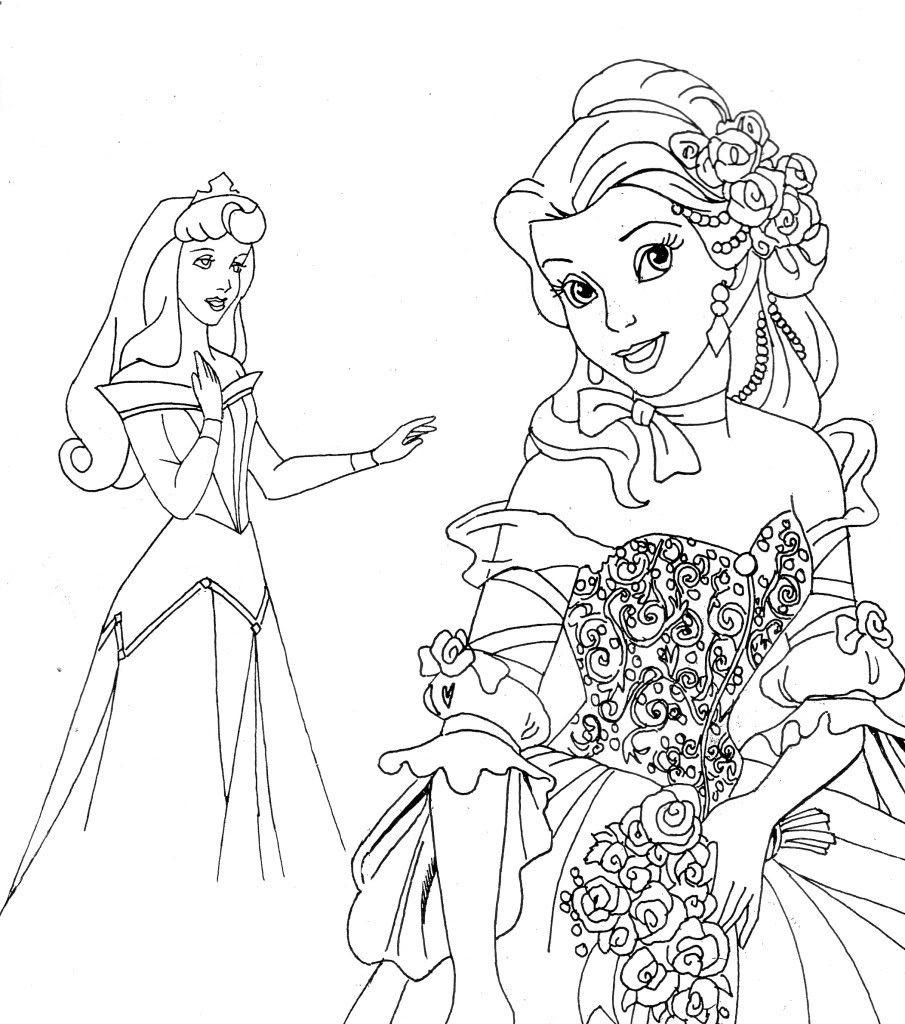 Free Printable Disney Princesses Coloring Page Coloring Home