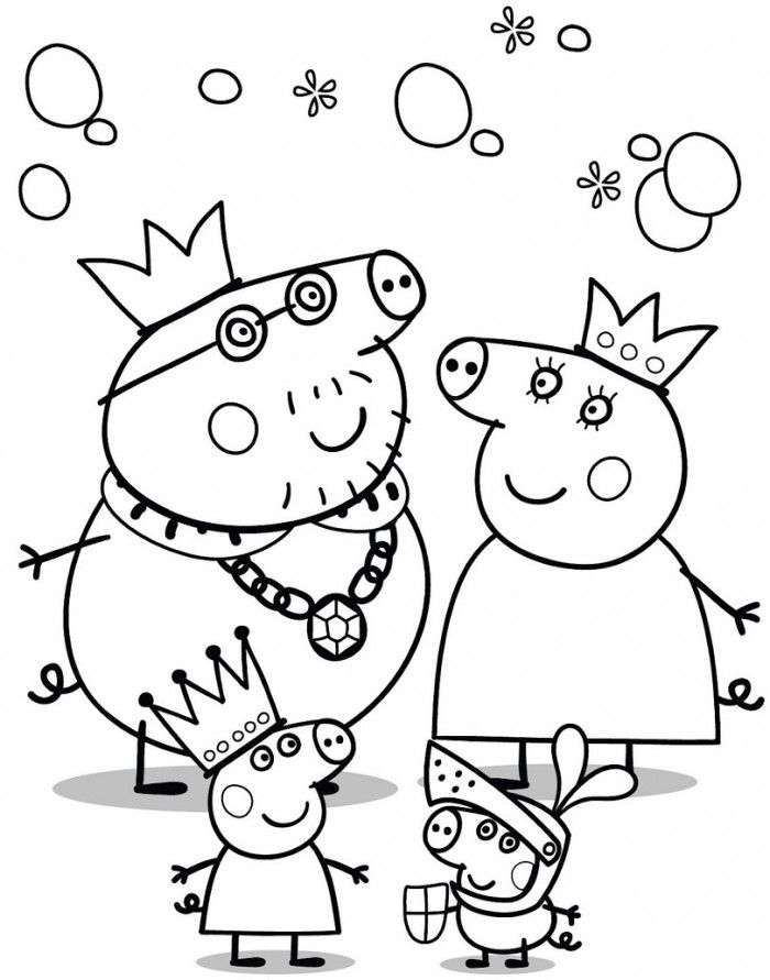 Peppa Pig Coloring Pages Halloween - Coloring Home