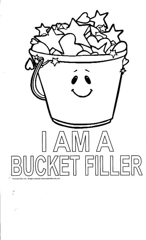 Fill My Bucket Coloring Page