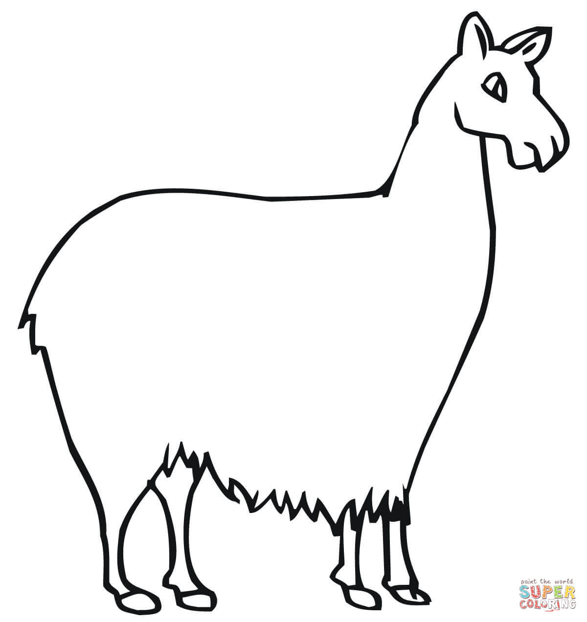 Llama South American Camelid coloring page | Free Printable ...