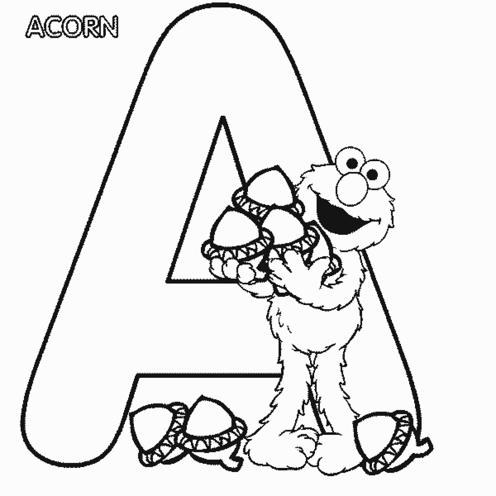 Alphabet Coloring Pages With Pictures : Elmo alphabet coloring pages home