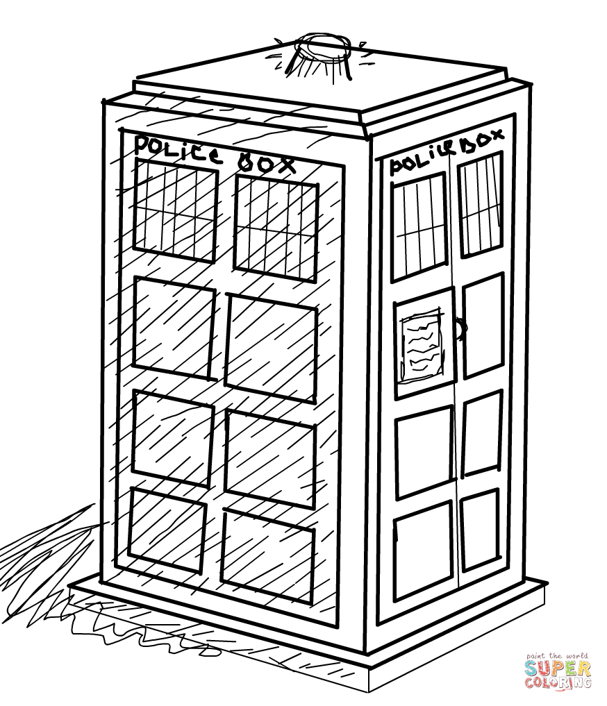 tardis coloring pages - photo#10