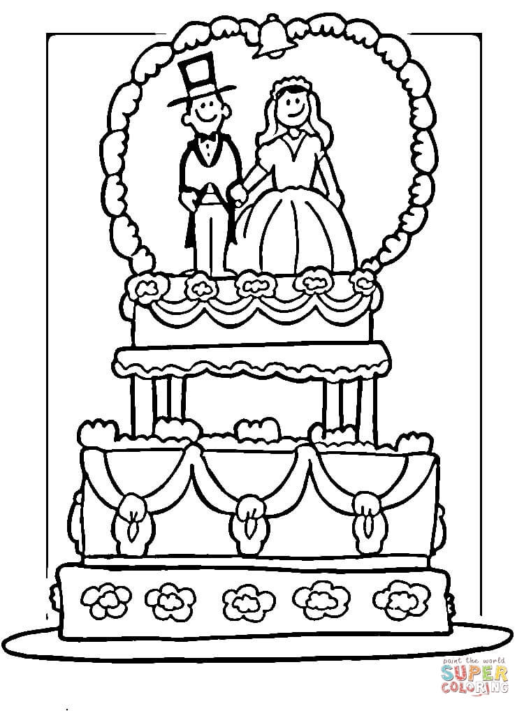 picture about Wedding Coloring Books Printable referred to as Bride With Marriage ceremony Bouquet Coloring Webpage Free of charge Printable