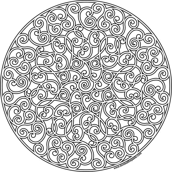 Complex Mandala Coloring Pages Printable - Coloring Home