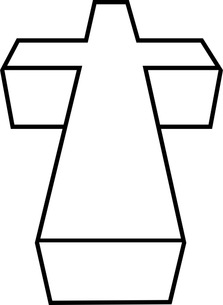 3d Cross Coloring Page Coloring Home