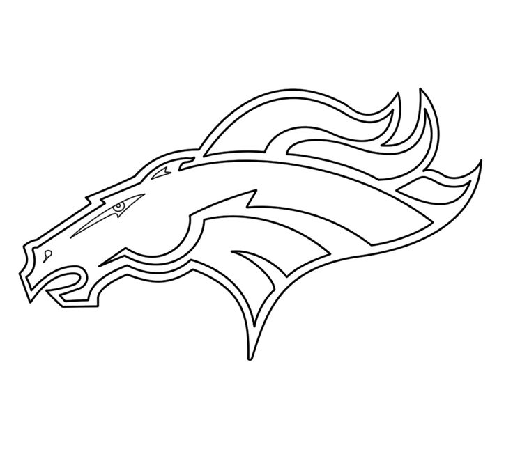 Denver Broncos Coloring Pages Printable - Coloring Home