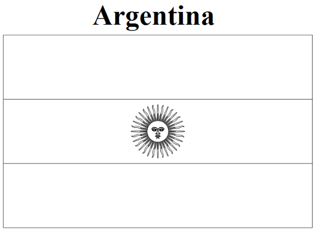 Argentina Flag Coloring Page Az Coloring Pages Argentina Coloring Pages