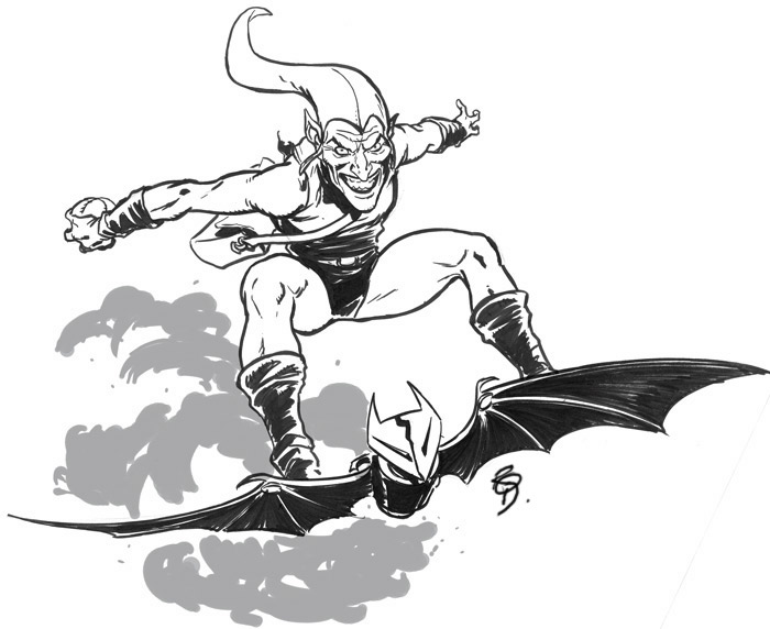 coloring pages green goblin - photo#14