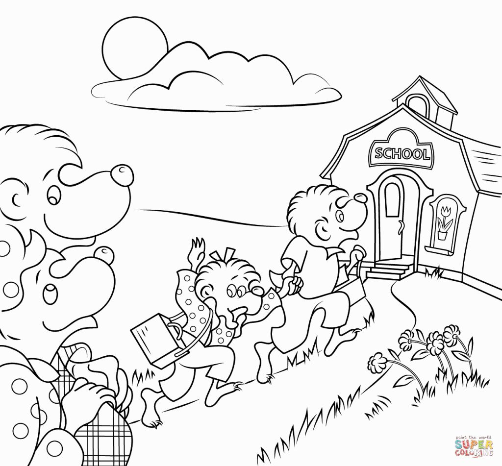 Berenstain Bears Coloring Page #1
