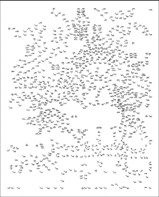 image relating to Printable Dot to Dot for Adults named Tough Dot In the direction of Dots - Coloring Dwelling