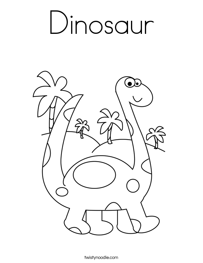 d is for dinosaur coloring pages - photo #9