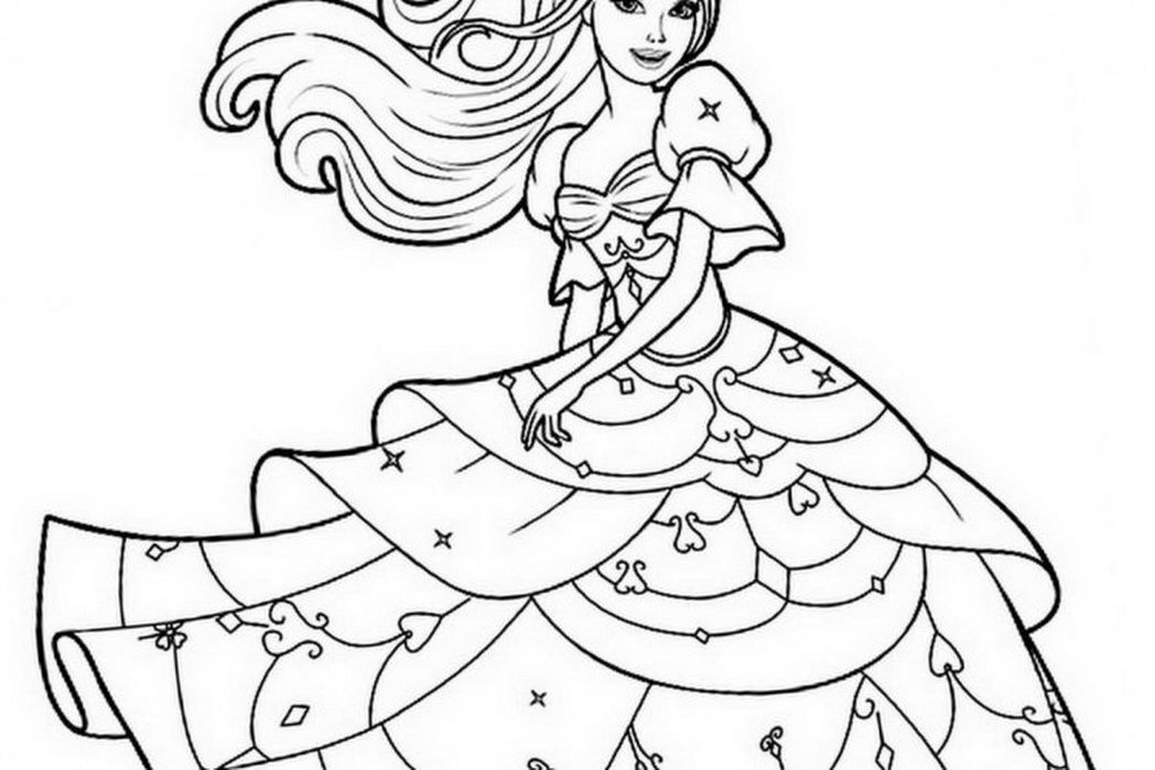 Printable Coloring Pages Barbie Coloring Home