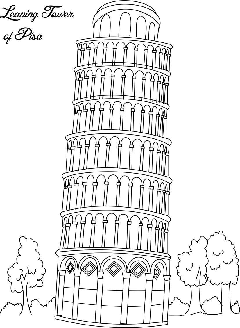 Clip Art Coloring Pages Of Italy italy coloring page az pages to download and print for free
