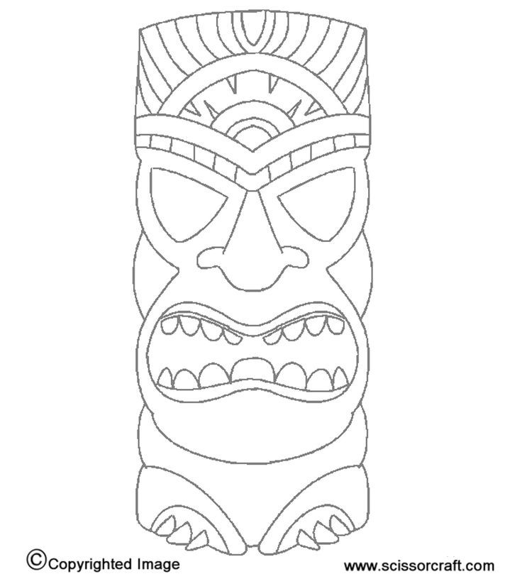 free tiki mask coloring pages   Printable Tiki Mask Coloring Pages - Coloring Home