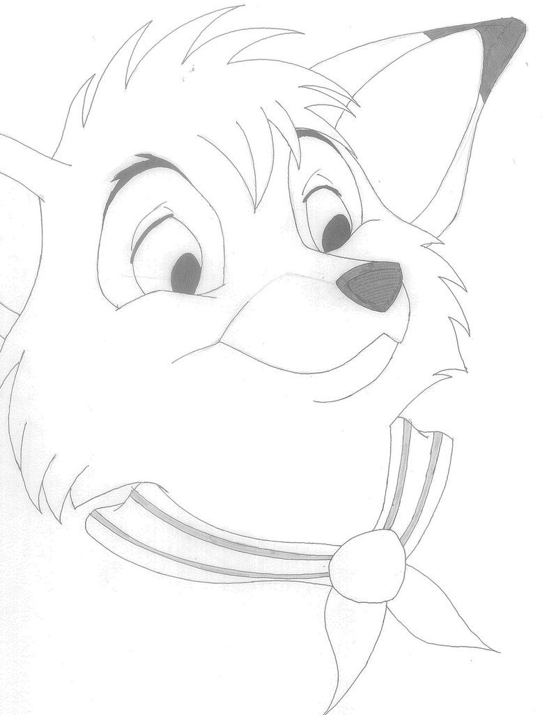 Fox And The Hound Coloring Page - Coloring Home