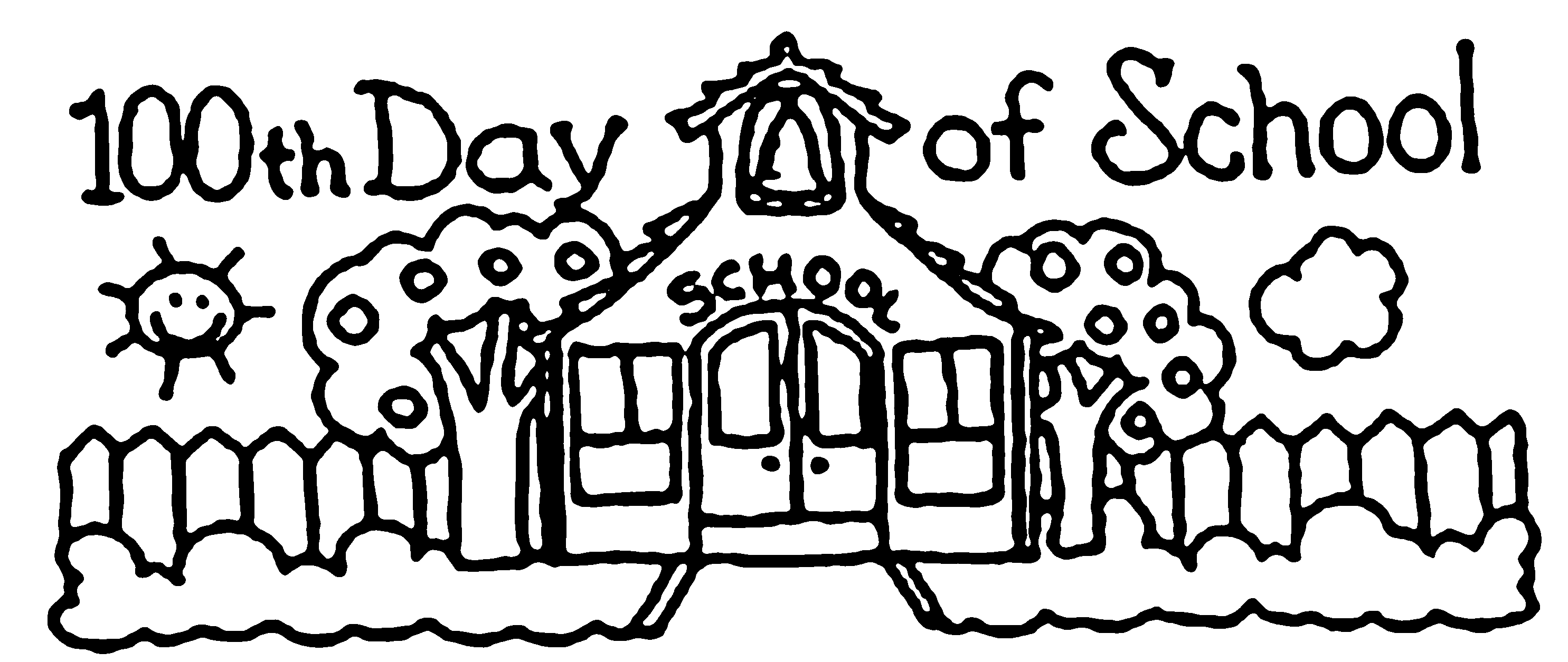 100th day of school coloring pages free coloring home for 100 days of school coloring page