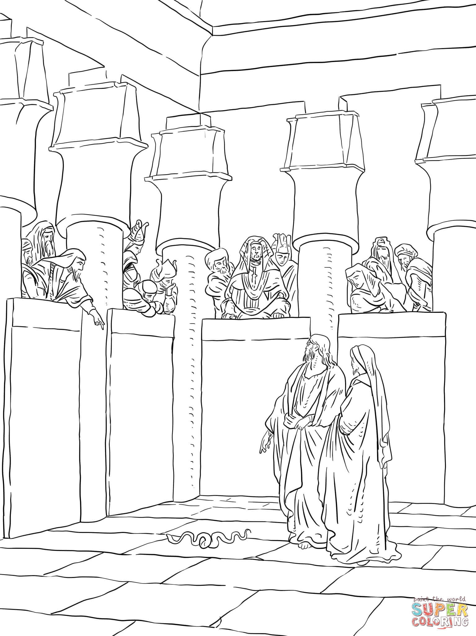 Pharaoh Coloring Page - Coloring Home