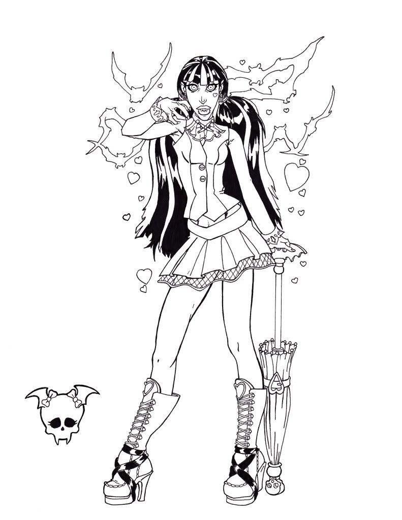 images of monster high characters coloring pages coloring home. Black Bedroom Furniture Sets. Home Design Ideas