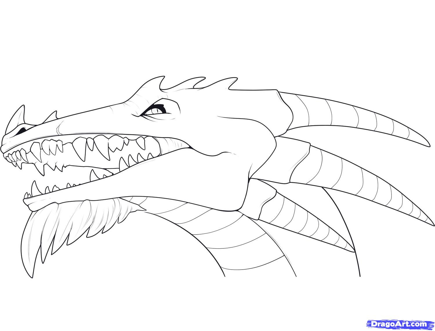 Dragon Face Coloring Page Coloring Home