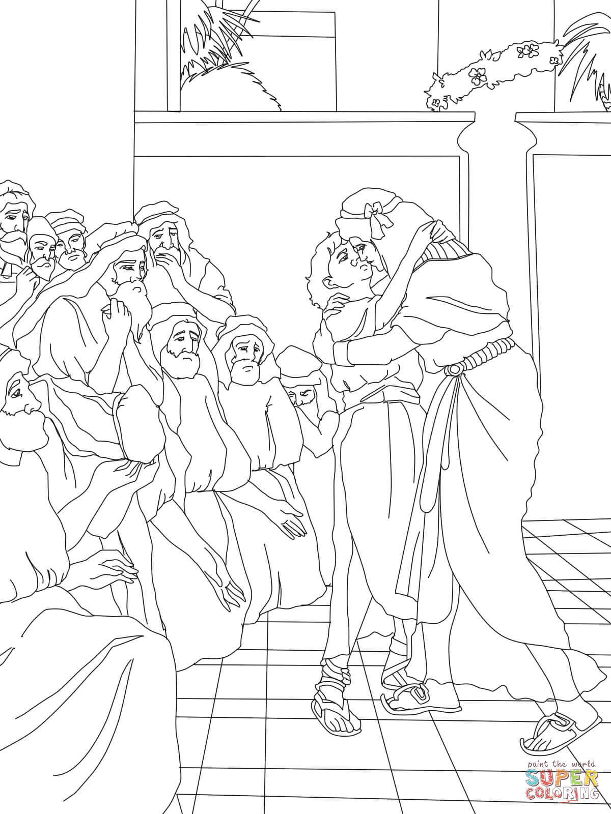 Joseph Forgives His Brothers coloring page | Free Printable ...