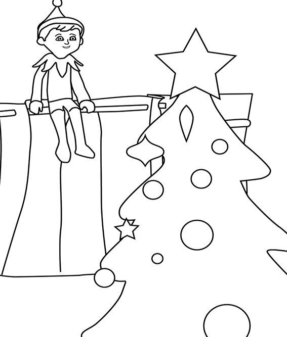 Free Printable Elf Coloring Pages For Kids | 667x567