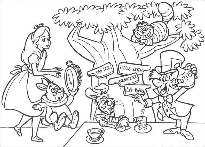 Cheshire Cat Coloring Pages Coloring Home