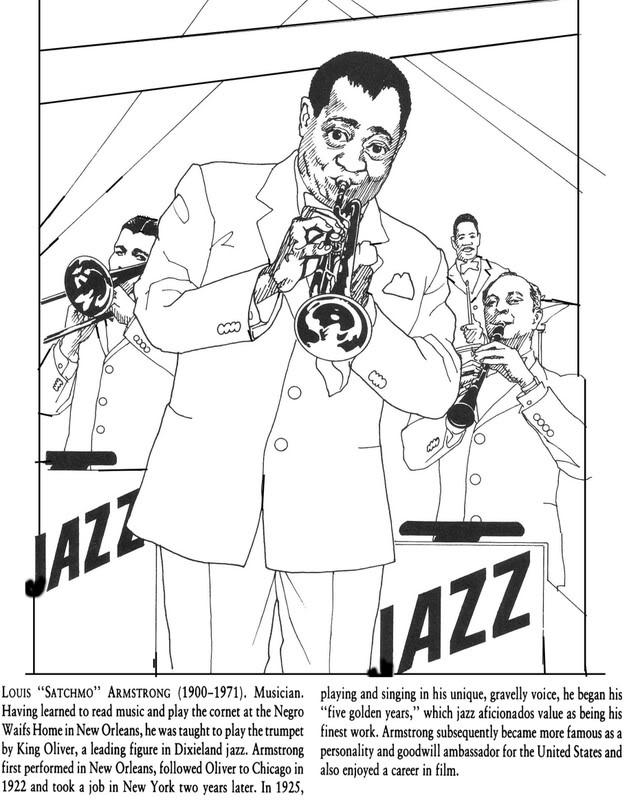 famous black americans coloring pages - photo#13