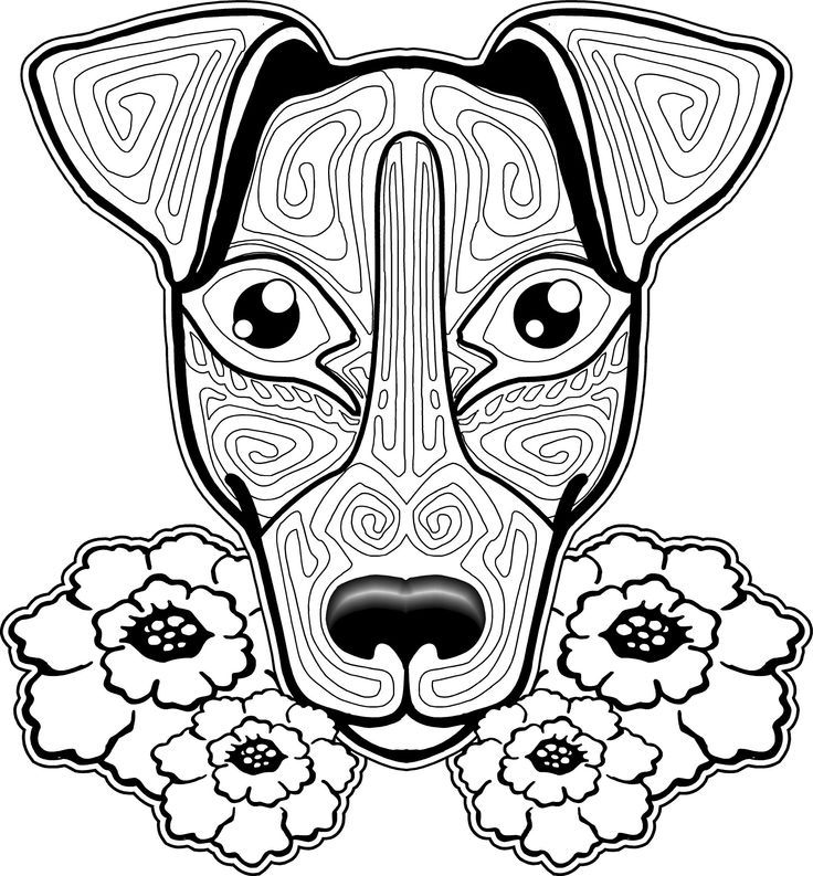 coloring pages of puppies hard - photo#37