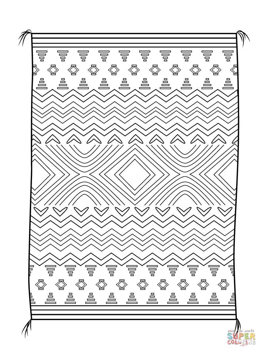 Navajo Blanket coloring page | Free Printable Coloring Pages