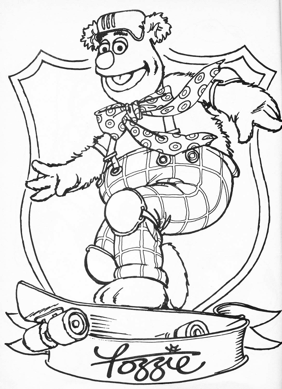 Muppets Coloring Pages Print Free  Coloring Home