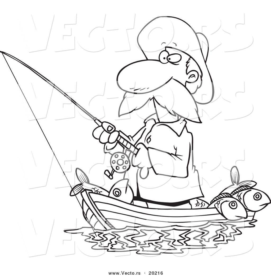 Bible Fishing Boat Coloring Page