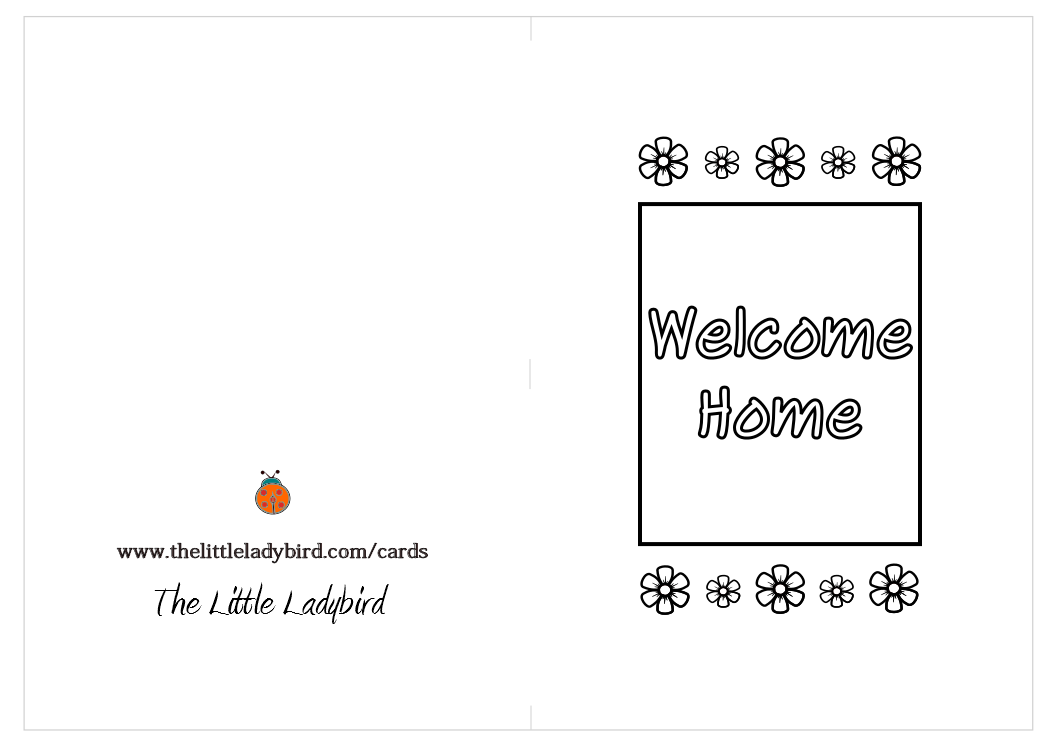 Free Wele Home Coloring Pages