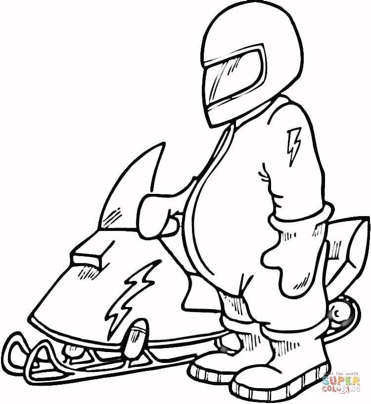 snowmobile coloring pages - photo#11