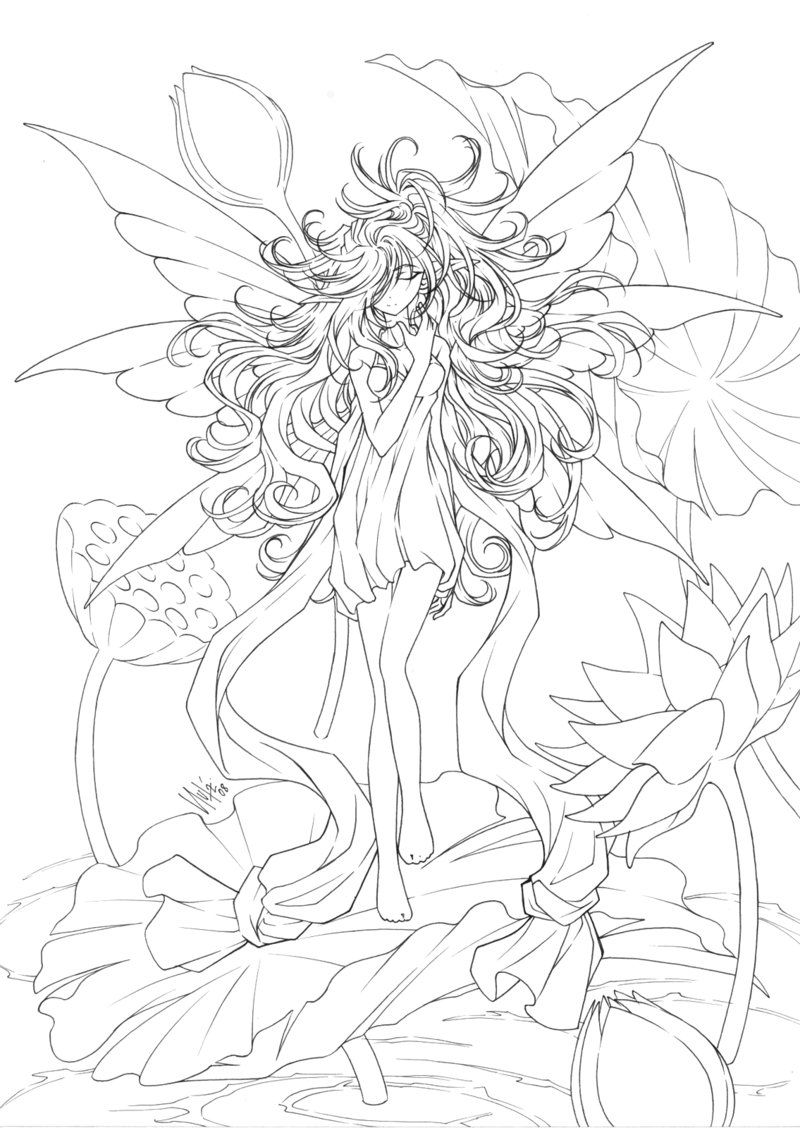 fantasy anime coloring pages coloring home