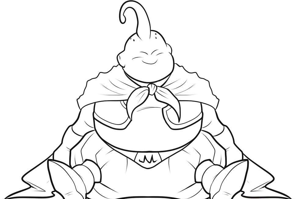 Majin Buu Coloring Pages Coloring