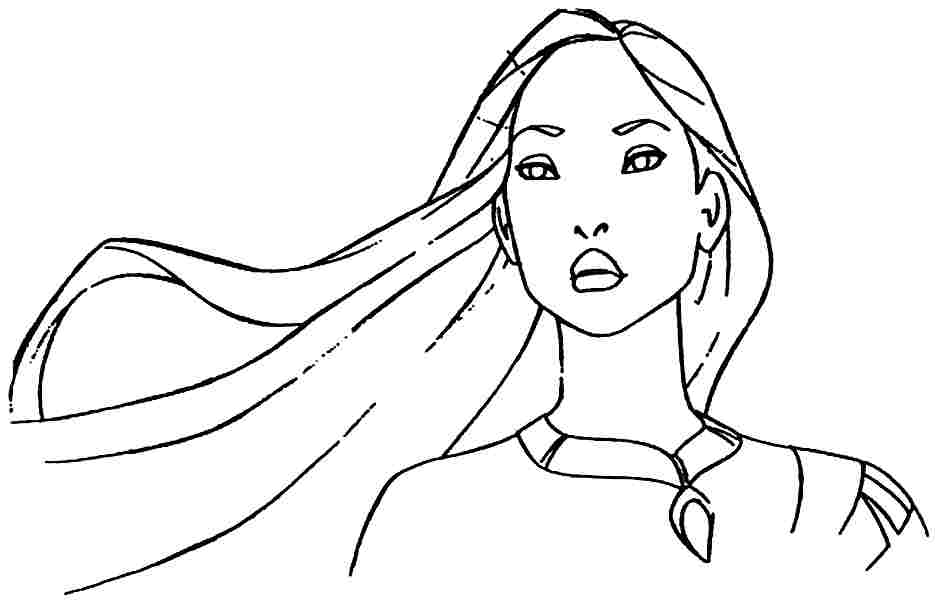 coloring pages pocahontas - photo#24