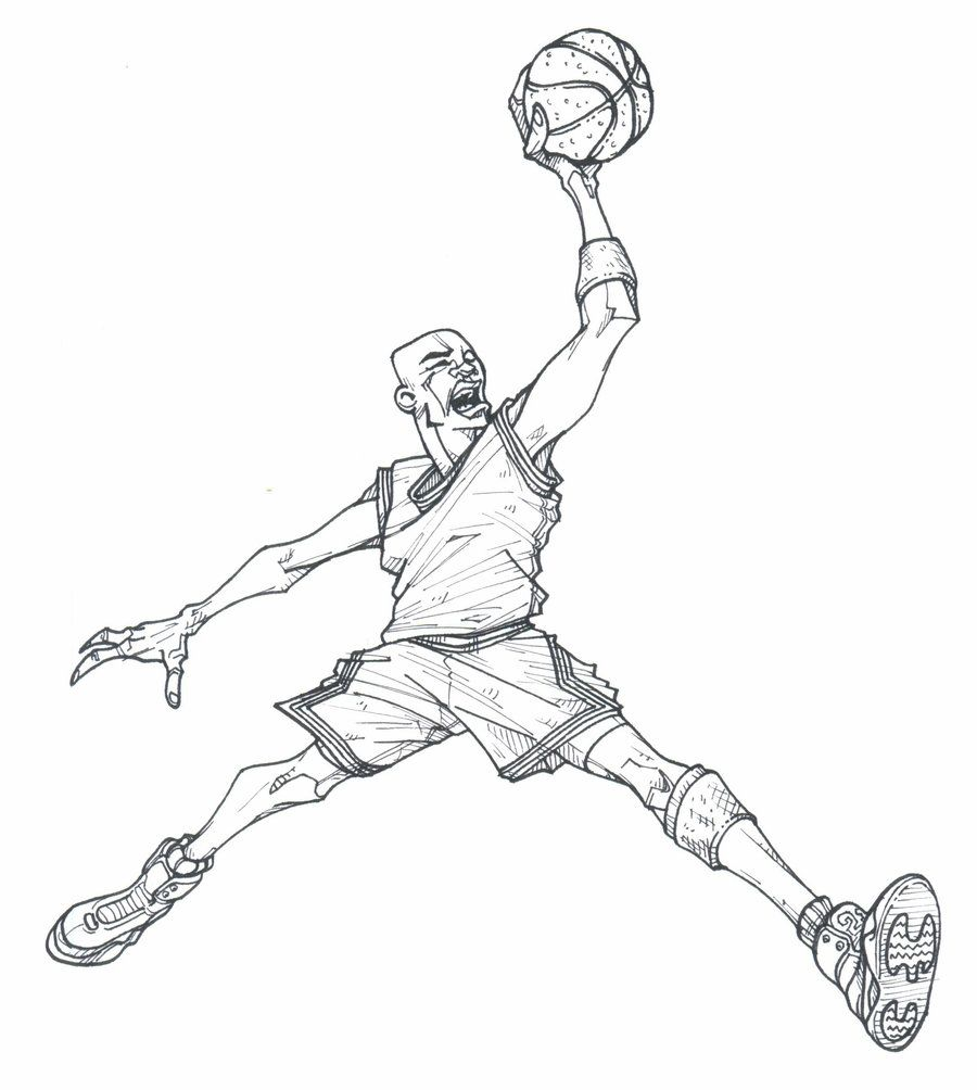 easy jordan coloring pages - photo#47