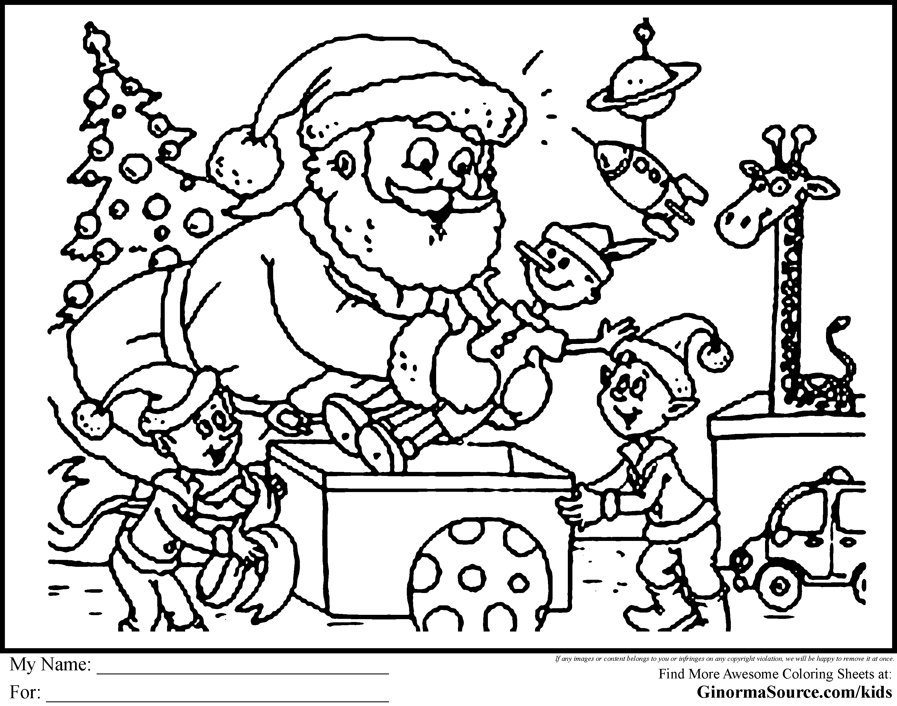 Christmas Coloring Sheet - Coloring Pages for Kids and for Adults