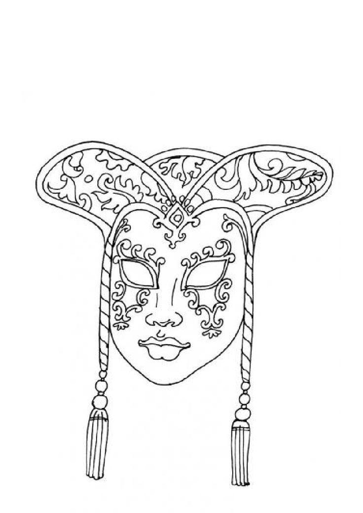 Раскраска маски лица