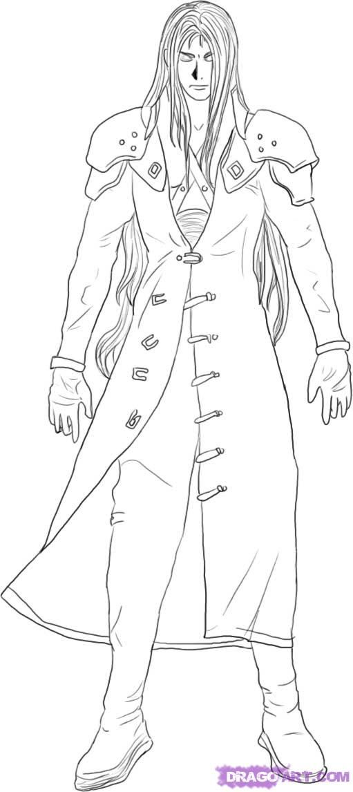 final fantasy character coloring pages - photo#2