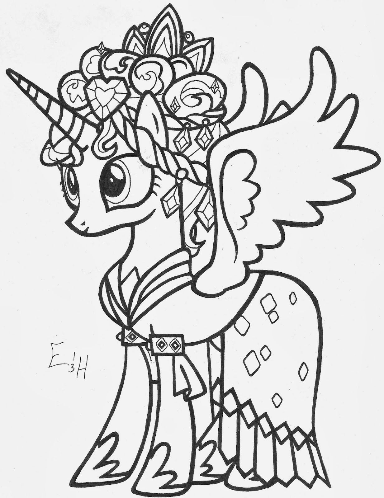 My little pony coloring pages princess cadence wedding