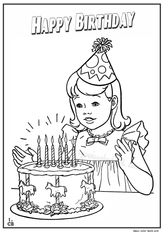 Scooby Doo Happy Birthday Coloring Pages - Coloring Home