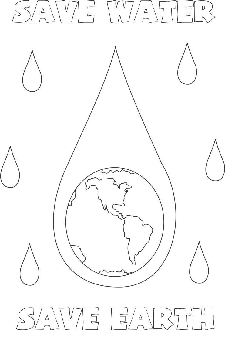 Water conservation for kids coloring pages coloring home Coloring book with water