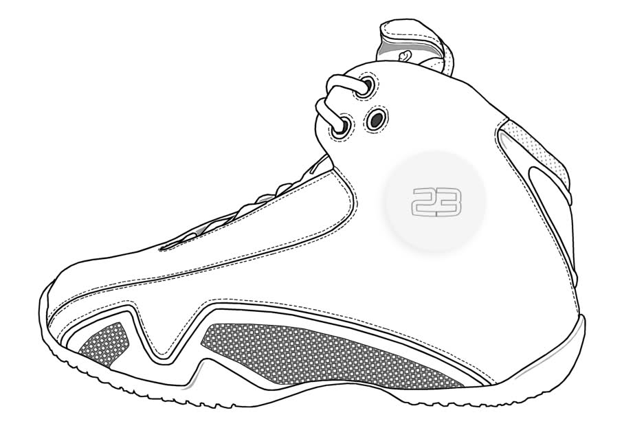 jordans shoes coloring pages - photo#16