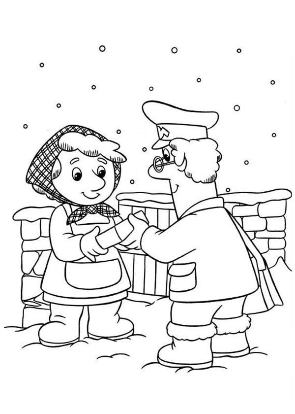 Postman Pat Coloring Pages Coloring Home