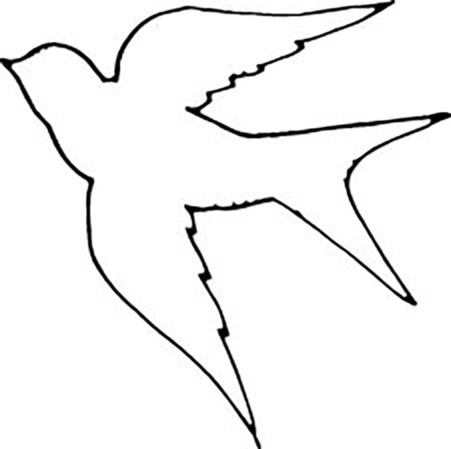 Bird cut out template coloring home for Bird templates to cut out